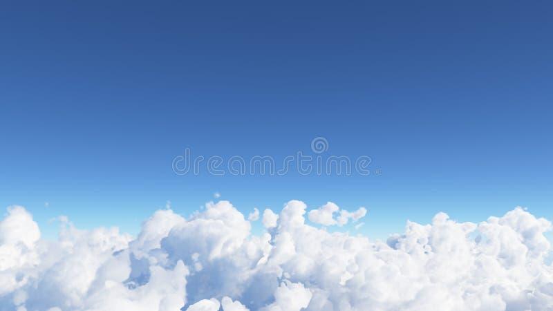 Le ciel bleu avec les nuages 3D rendent photos libres de droits