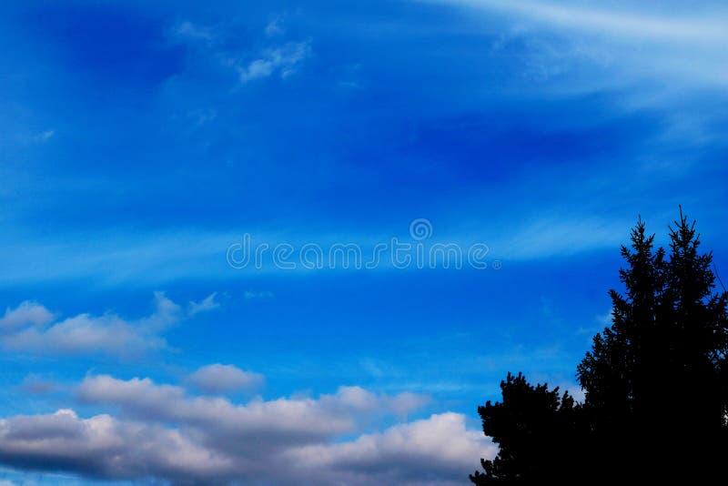 Le Ciel Bleu Opacifie Des Peintures De Fond D Art De Mur