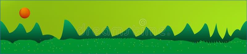 Le ciel de chaux, et les montagnes aménagent en parc illustration libre de droits