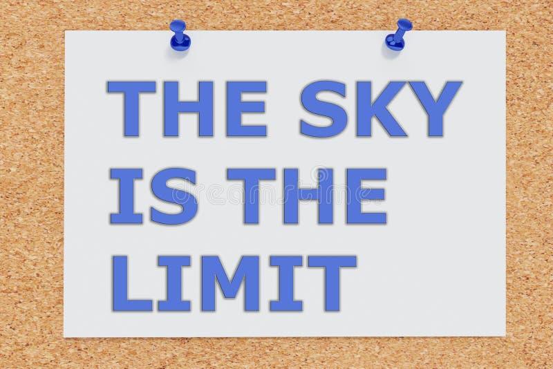 Le ciel est la limite - concept illustration stock