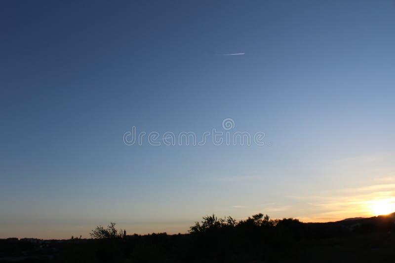 Le ciel et la nuit photo stock