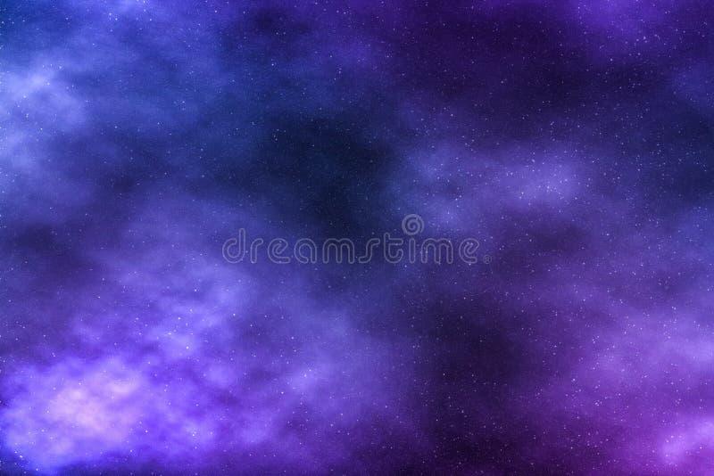 Le ciel nocturne tient le premier r?le le fond, nuages de n?buleuse en cosmos image libre de droits