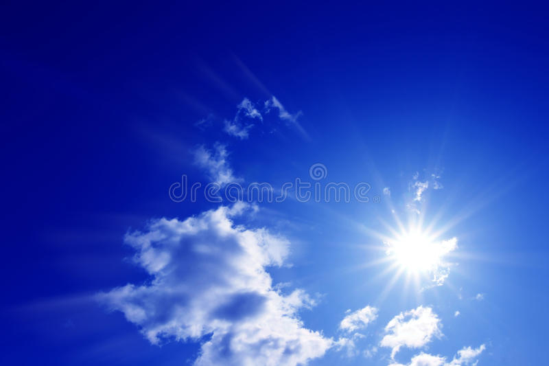 Le ciel solaire photo libre de droits