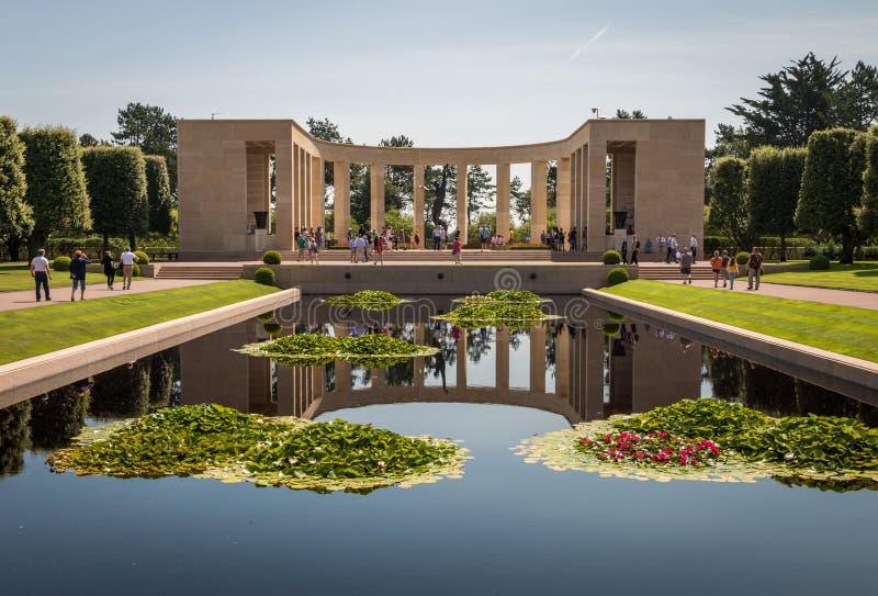 Le cimetière américain de la Normandie à la plage d'Omaha, Normandie, France photographie stock libre de droits