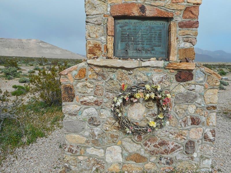 le cimetière de grenouille mugissante aux Etats-Unis photo libre de droits