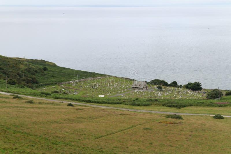 Le cimetière sur le grand Orme dans la tête photographie stock