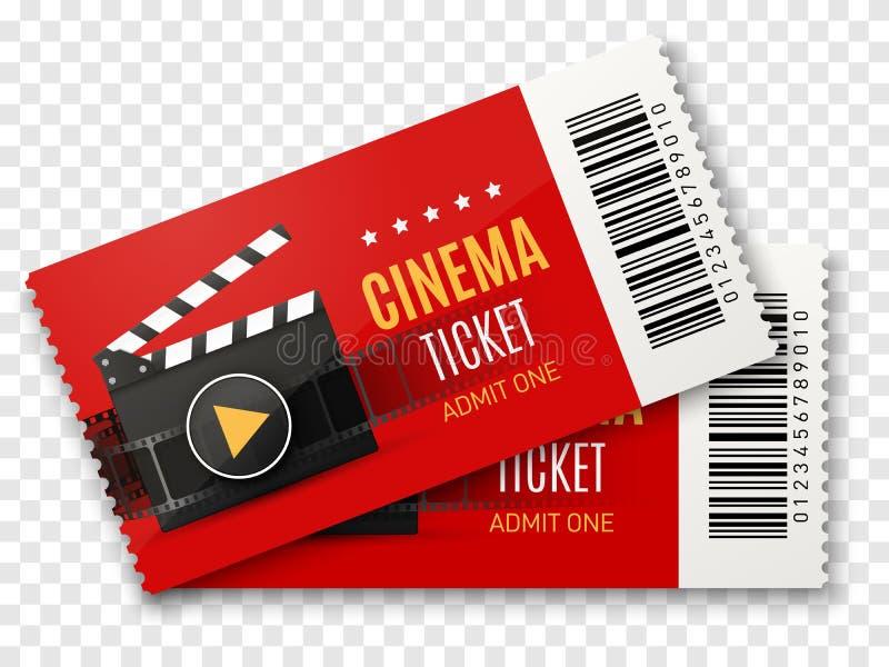 Le cinéma étiquette le fond Illustration d'affiche de film de vecteur illustration de vecteur
