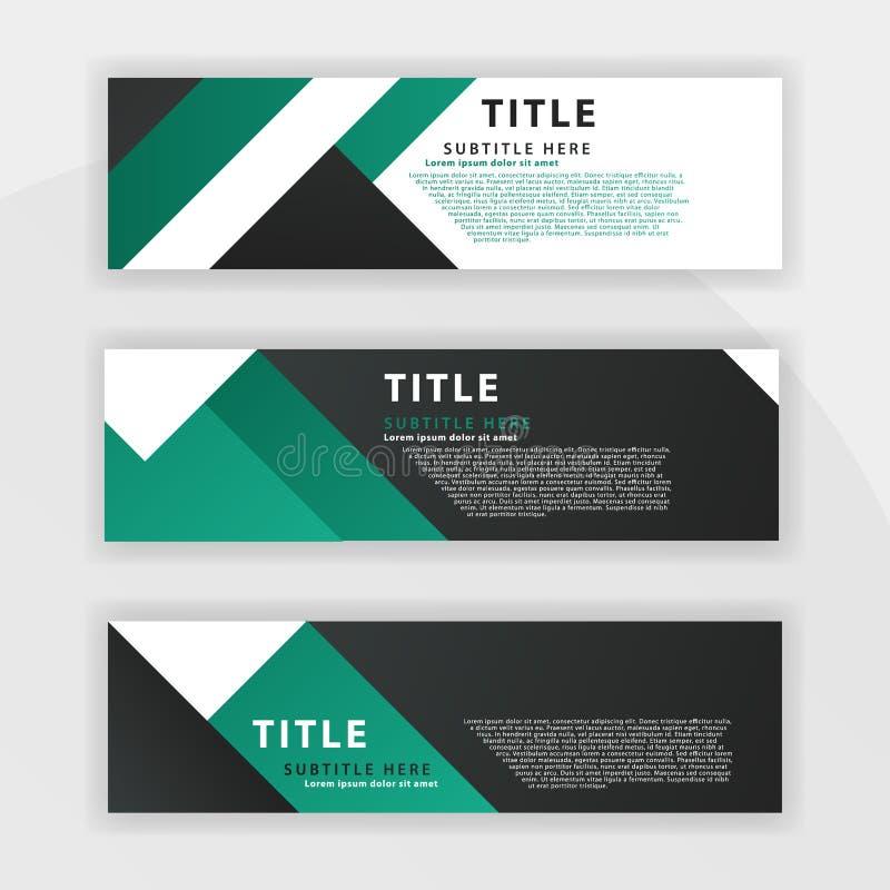 le cinquième ensemble de Benner est couleur vert-foncé, approprié aux sociétés professionnelles a conçu pour être en ligne comme  illustration stock