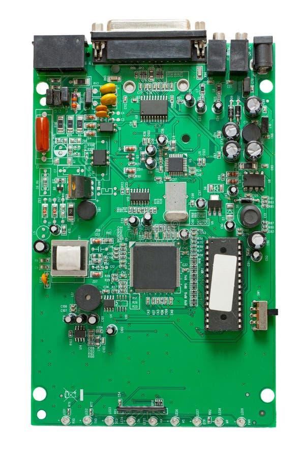 Le circuit d'un modem commuté externe photos libres de droits