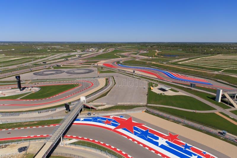 Le circuit de la voie de course des Amériques photo stock