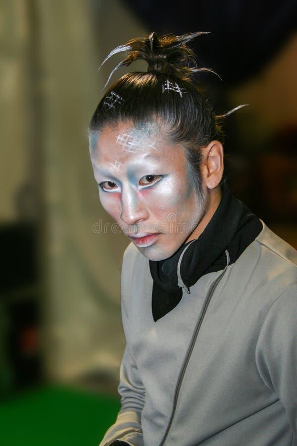 Le Cirque du Soleil, esecutore fotografia stock