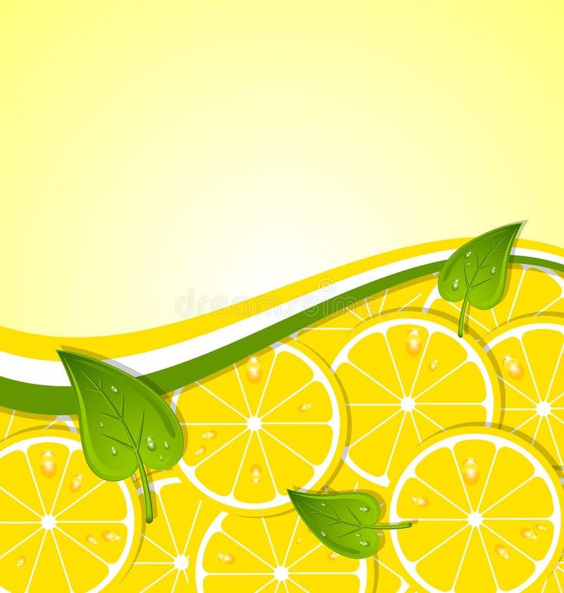 Le citron découpe le descripteur en tranches illustration stock