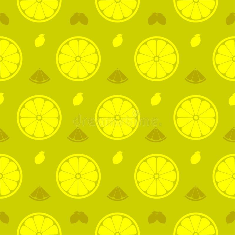 Le citron frais, orange porte des fruits le vecteur sans couture FO de fond de modèle illustration stock