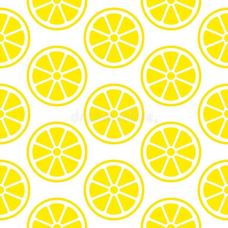 Le citron sans couture abstrait de modèle découpe la place en tranches jaune illustration libre de droits