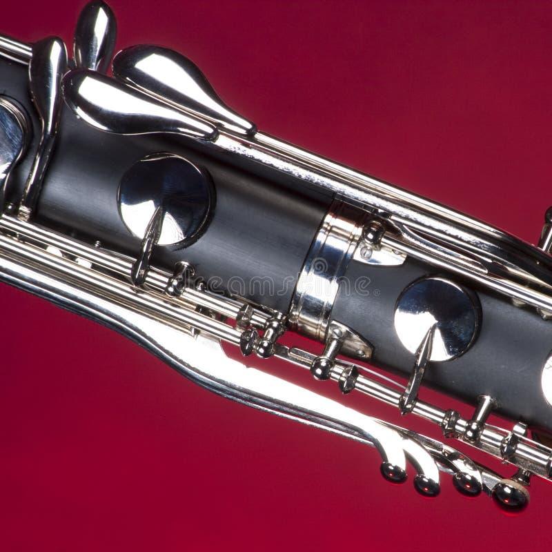 le clarinet bas introduit le rouge photographie stock libre de droits