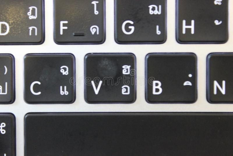 Le clavier de pomme Le clavier noir photo stock
