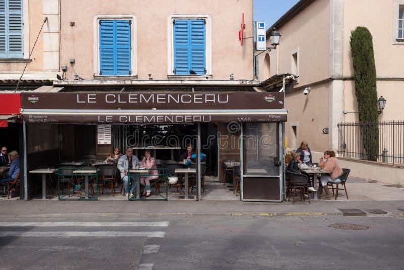 Le Clemenceau Restaurant photographie stock libre de droits