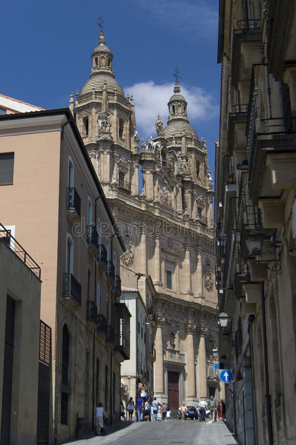 Le clergé (La Clerecia). Salamanque, Espagne photos libres de droits