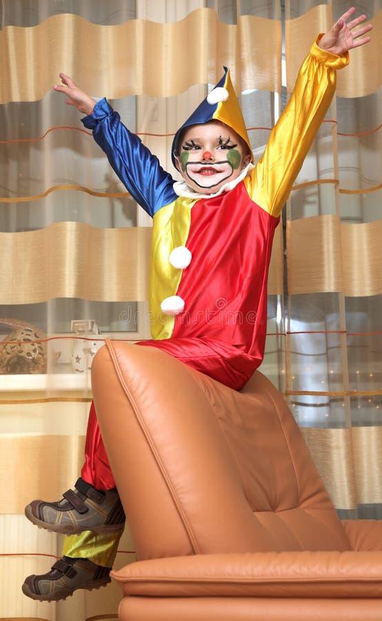 Le clown gai photo libre de droits
