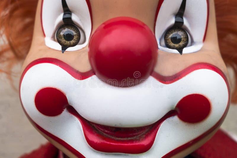 Le clownframsidan royaltyfri fotografi