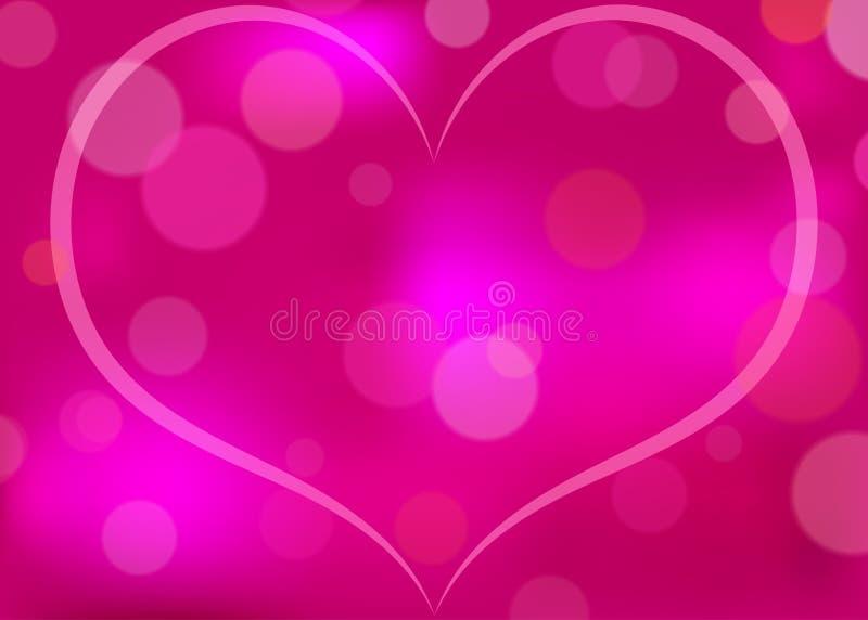 Le coeur abstrait a modelé le fond de vecteur illustration de vecteur