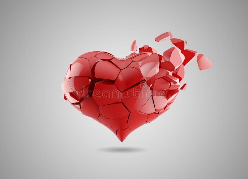 Le coeur brisé illustration stock