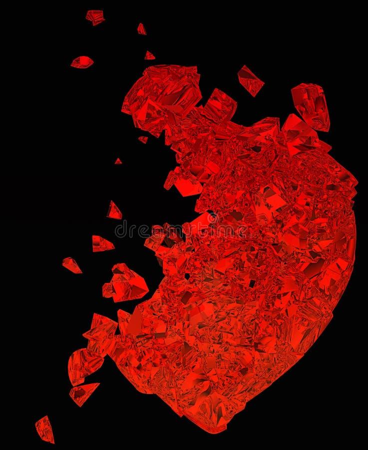 Le coeur brisé : amour non récompensé ou mort illustration stock