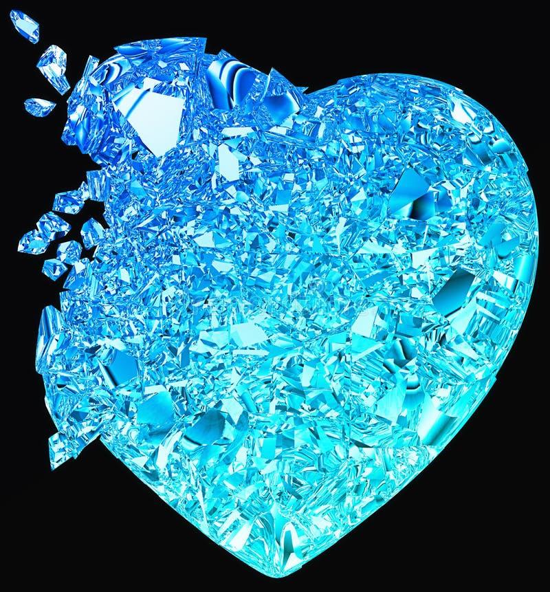 Le coeur brisé bleu : amour non récompensé illustration stock