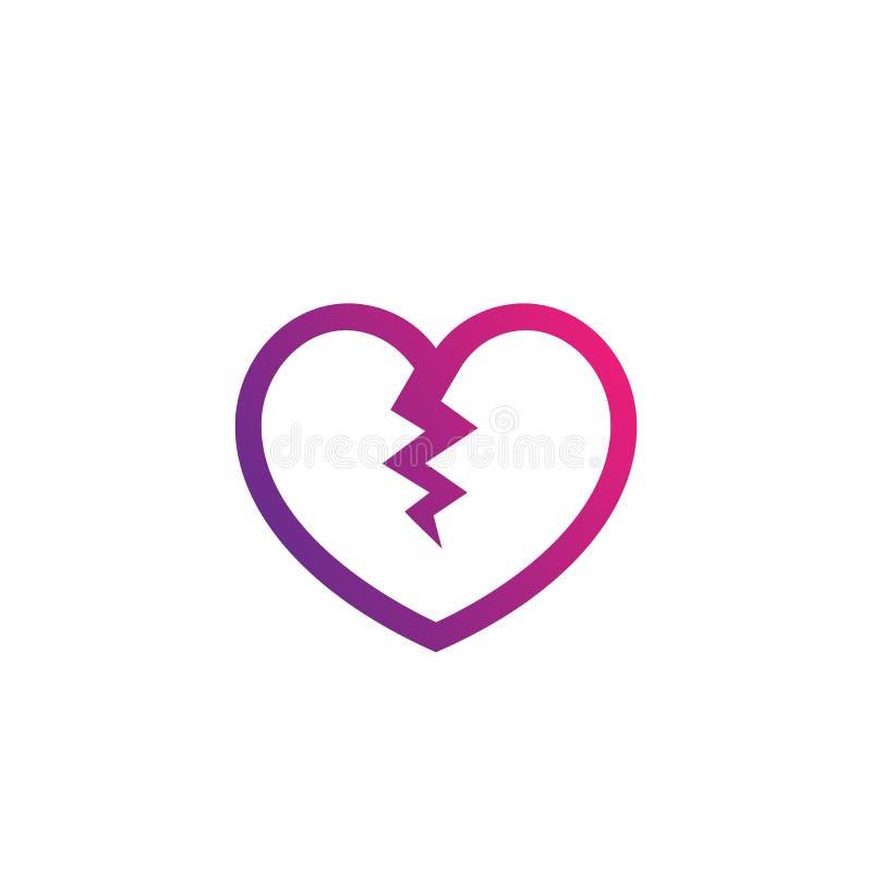Le coeur bris?, immense chagrin illustration libre de droits