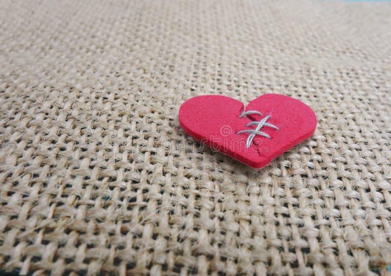 Le coeur brisé piqué photographie stock