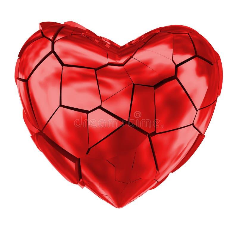 Le coeur brisé rouge brillant photos libres de droits