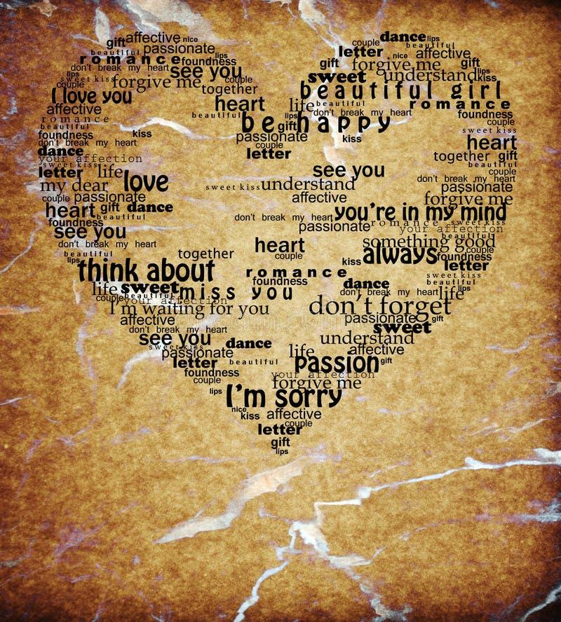Le coeur d'amour d'isolement par cru exprime la forme texturisée photographie stock