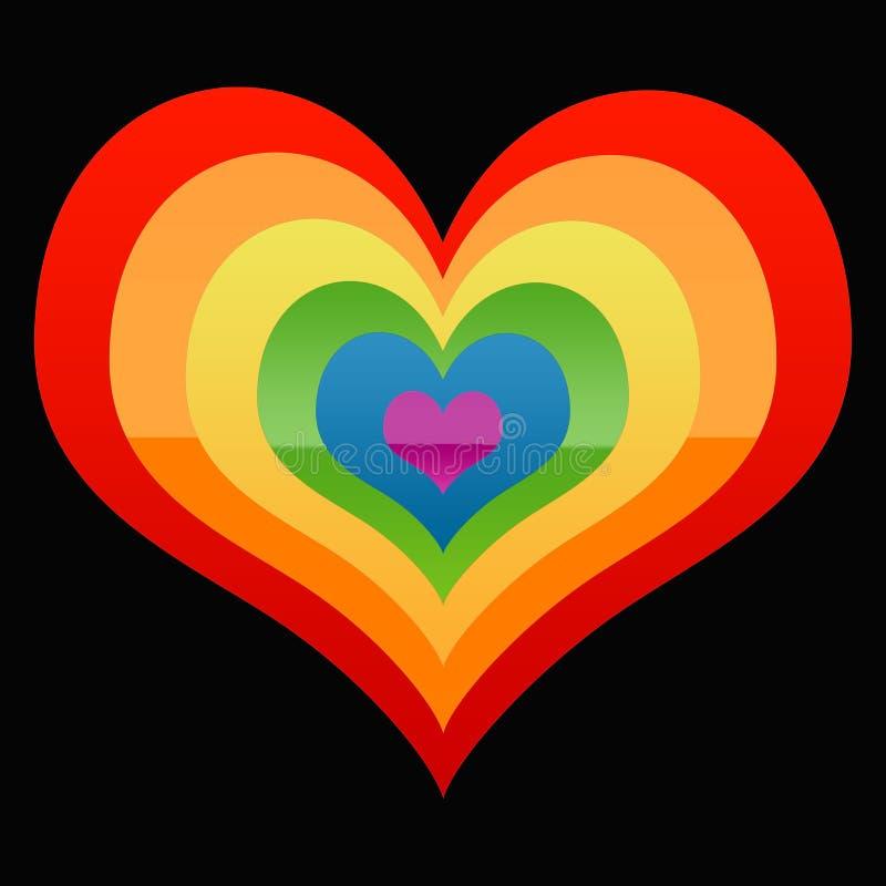Le coeur de l'homosexuel illustration libre de droits
