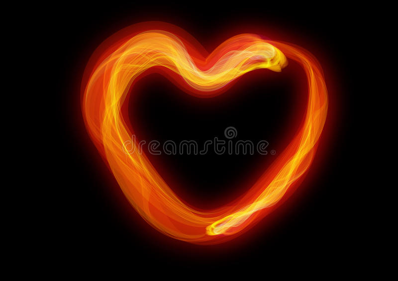Le coeur de la combustion illustration libre de droits