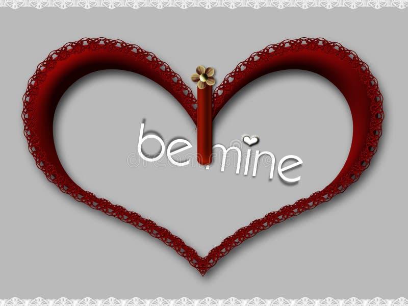 Le coeur de Valentine images libres de droits