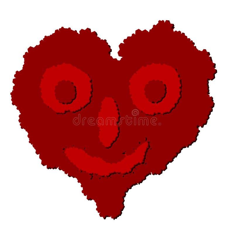 Le coeur de vecteur ressemble au boogerman illustration stock