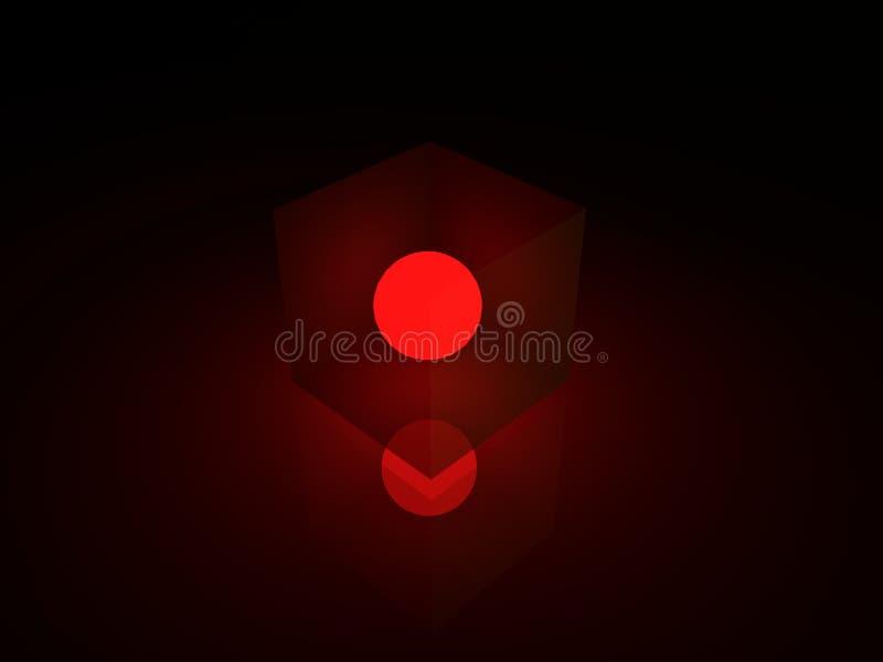 Le coeur du caisson lumineux au néon images stock