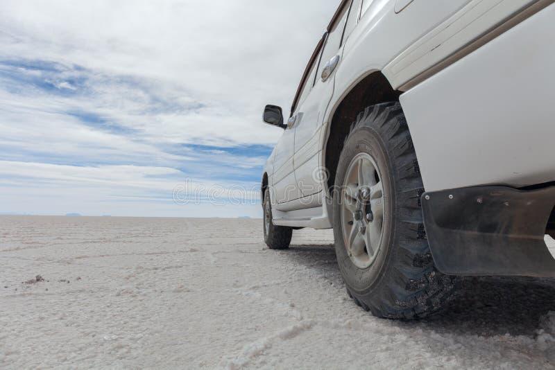 Le coeur du marais de sel de Salar de Uyuni images stock