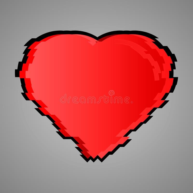 Le coeur est rouge Vecteur de conception de problème illustration libre de droits