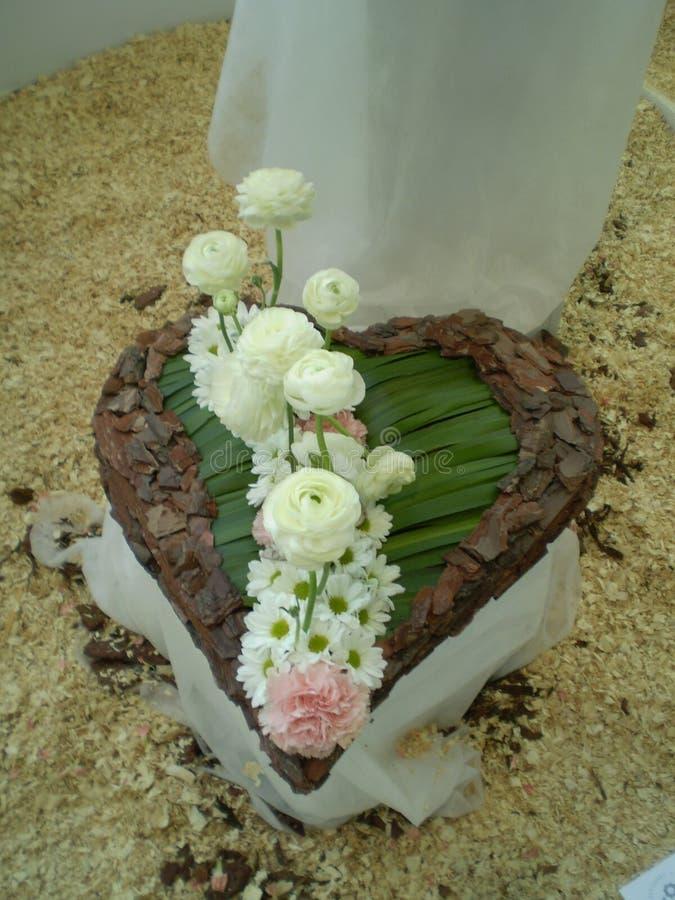 Le coeur fleurit la collection photos stock