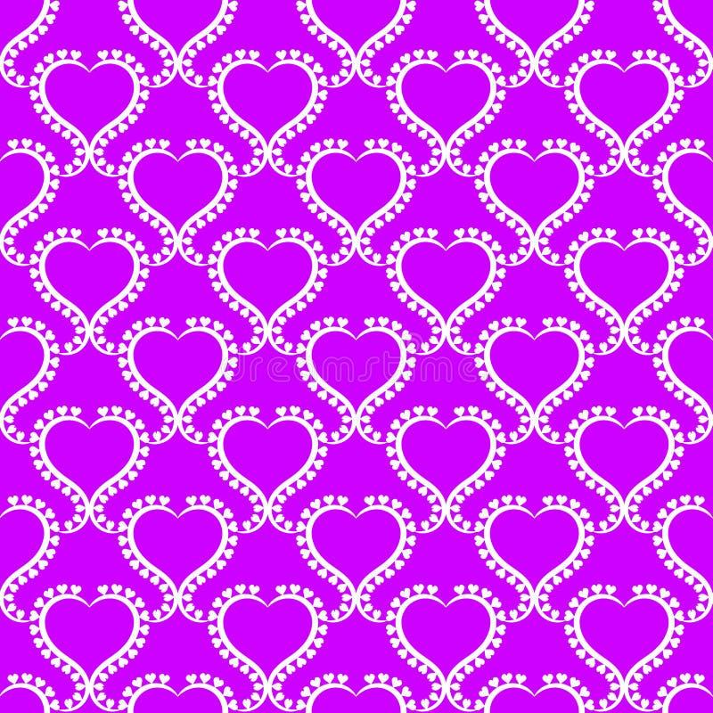 Le coeur imprime le papier peint sans couture de texture illustration stock