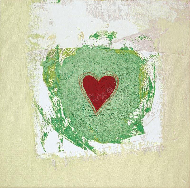 Le coeur a peint deux illustration de vecteur
