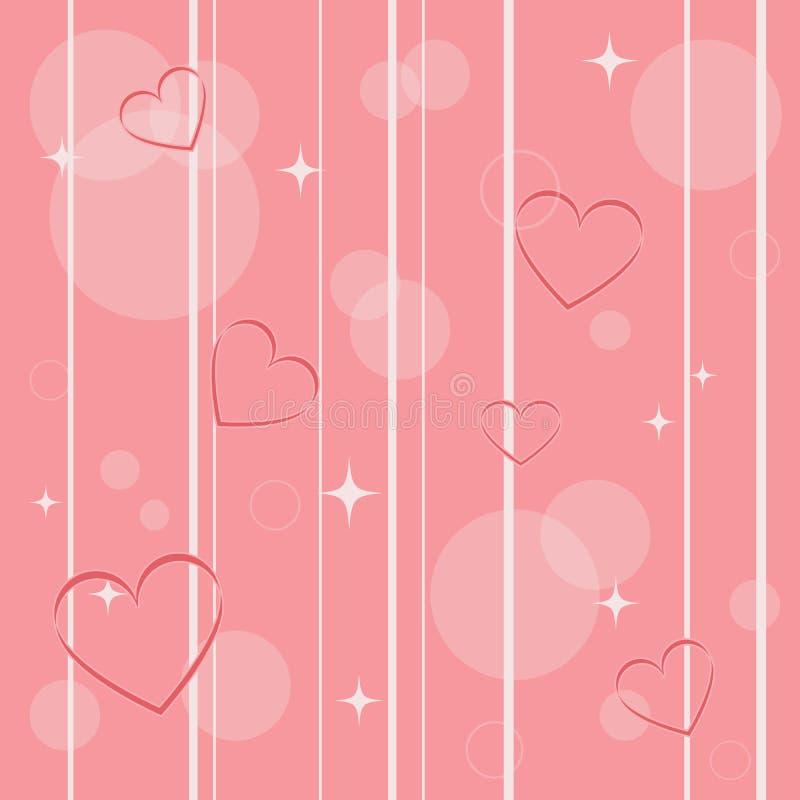 Le coeur sans couture forme pour le jour du ` s de Valentine illustration stock