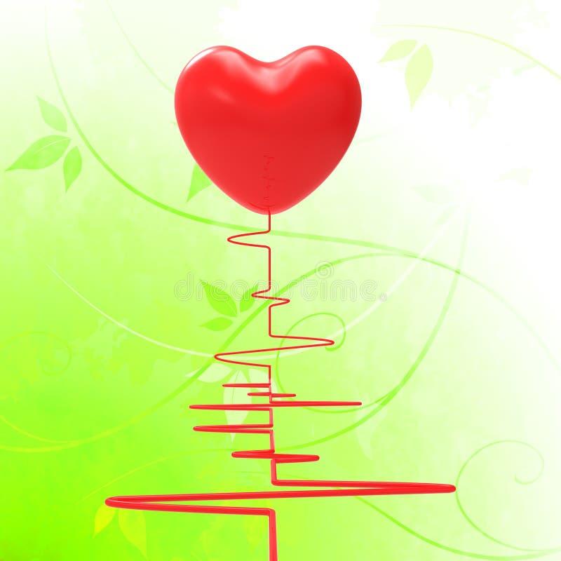 Le coeur sur l'électro signifie les couples passionnés ou illustration stock