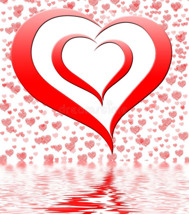Le coeur sur le fond montre des fiançailles et le mariage de datation illustration libre de droits
