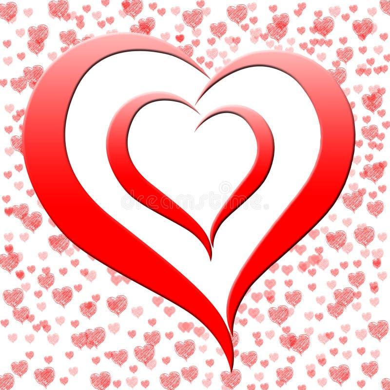 Le coeur sur le fond montre l'engagement de datation illustration libre de droits