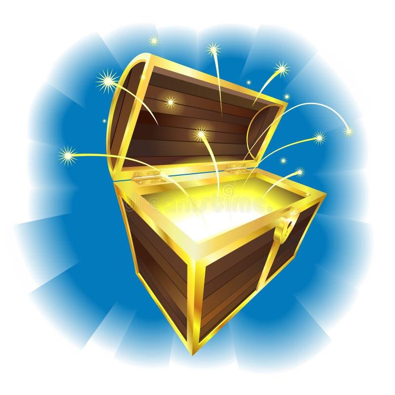 le coffre de trésor suscite le vol illustration de vecteur