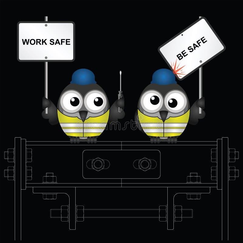 Le coffre-fort de travaux de construction soit message sûr illustration stock