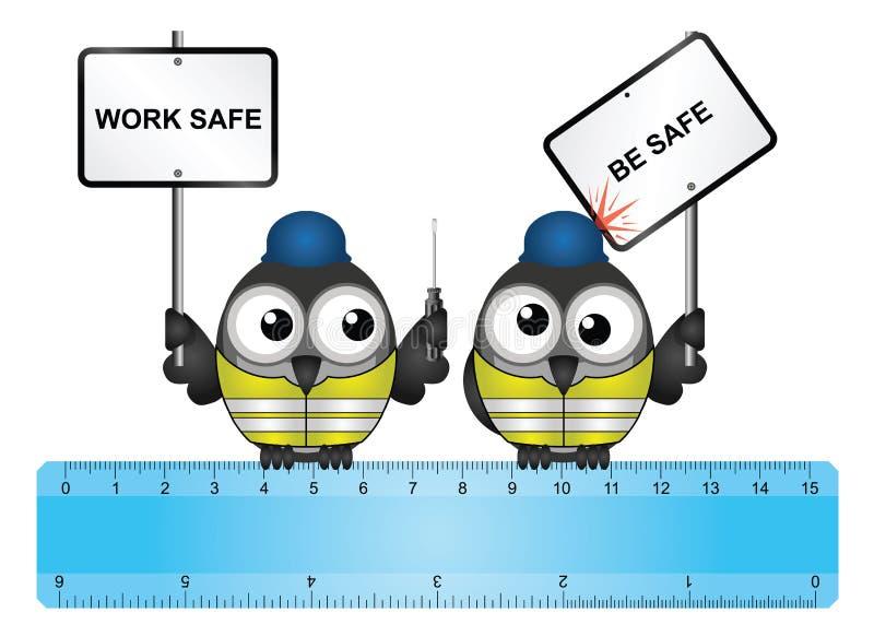 Le coffre-fort de travaux de construction soit message sûr illustration libre de droits