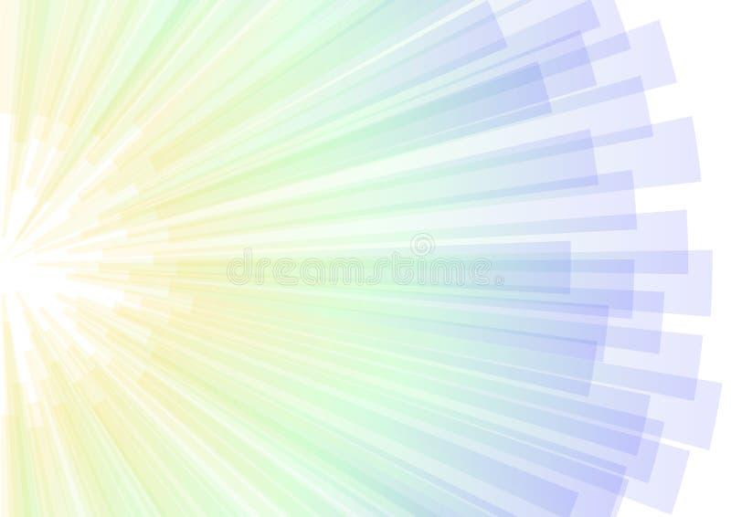 Le coin abstrait frais de rayure d'aura éclatent le fond illustration libre de droits
